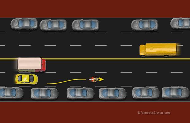 Centered Lane Position - Taking the Lane