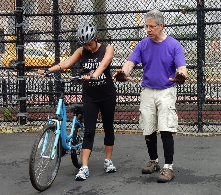 Preliminary exercises in VB Adult Learn to Ride a Bike