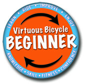 Beginner's Pin - Stages of Learning to Ride a bike